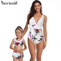 Beautiful Mother Daughter Swimwear - Ribbon and Blues