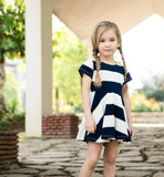 Short Sleeves Stripe Mommy And Me - Ribbon and Blues