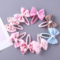 8 Pcs Hair Clips for Girls and Babies - Ribbon and Blues