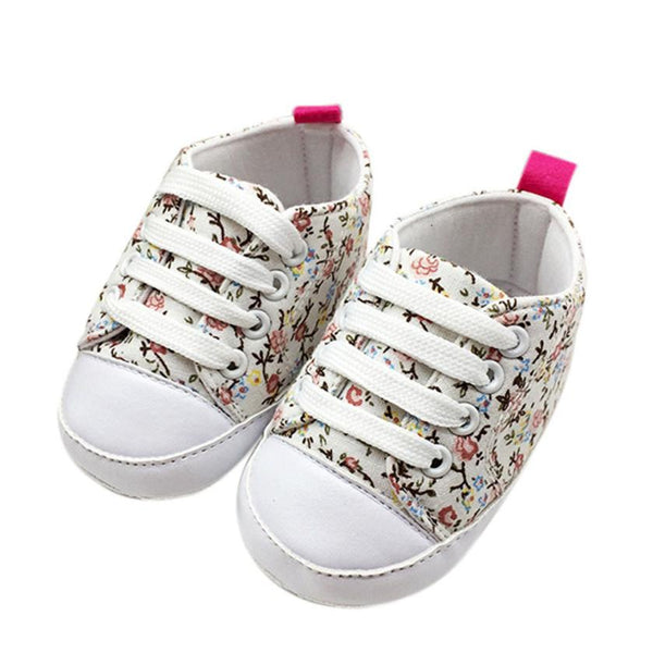 Soft Colorful Anti-Slip Baby Canvas Shoes