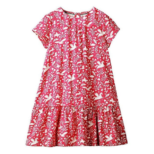 Cute Red Cotton Summer Dress
