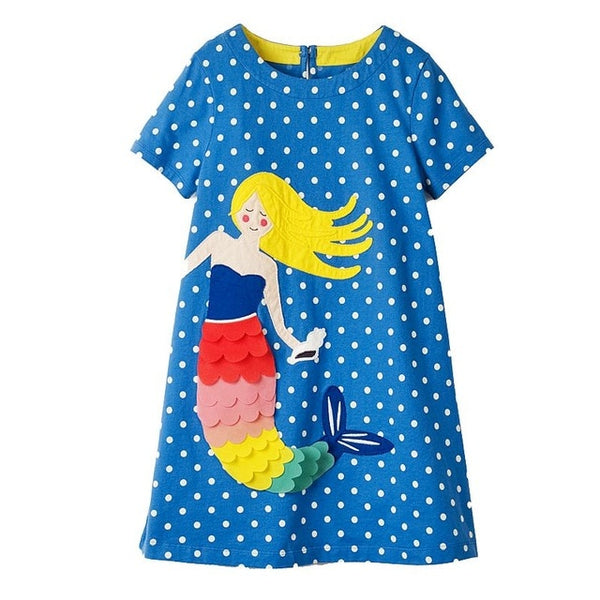Mermaid Cotton Summer Dress