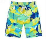 Green Boys Swim Wear - Ribbon and Blues