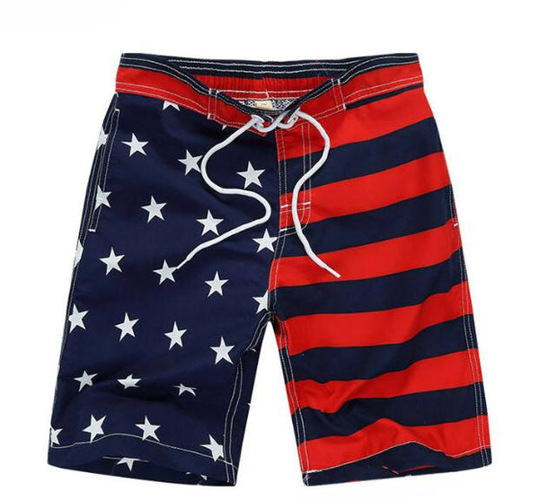 Red and Blue Stars and Stripes Fun Swim Wear - Ribbon and Blues