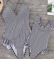 Black and White Striped Look Like Mommy - Ribbon and Blues