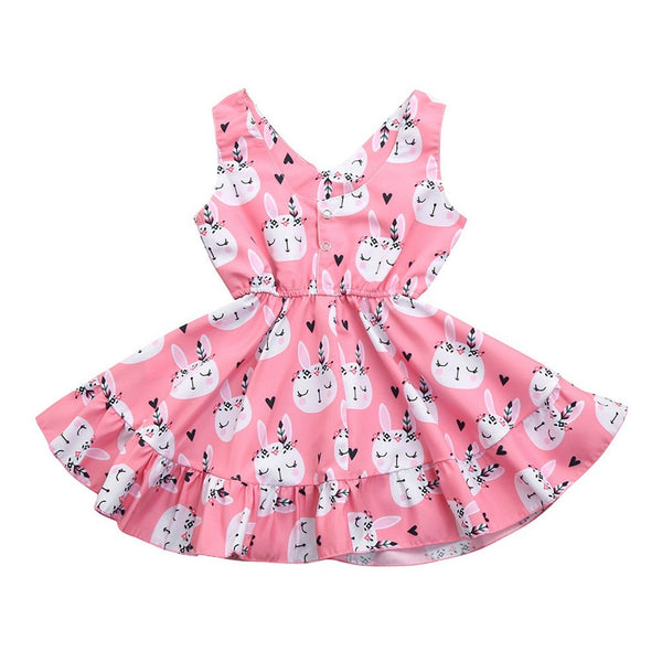 Pink Sleeveless Bunny Dress - Ribbon and Blues