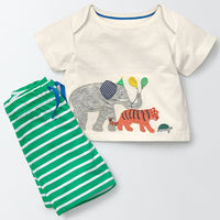 Party Animal Shirt and Stripped Pants - Ribbon and Blues
