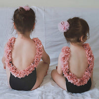 Mother Daughter Flower Bathing Suit