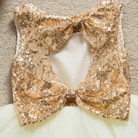Bows and Sequin Dress - Ribbon and Blues