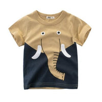 Short-Sleeved Animal T-Shirt - Ribbon and Blues