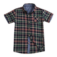 Green Plaid Button Up Shirt for Boys - Ribbon and Blues