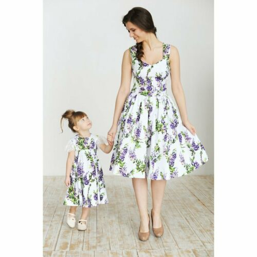 Lavender Mother Daughter Matching Dresses - Ribbon and Blues