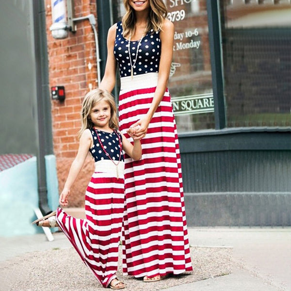 American Flag Mother Daughter Dresses - Ribbon and Blues