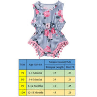 Summer Baby Floral Rompers