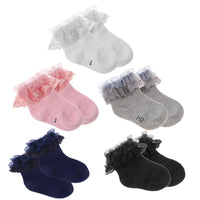Baby Cotton Socks with Lace