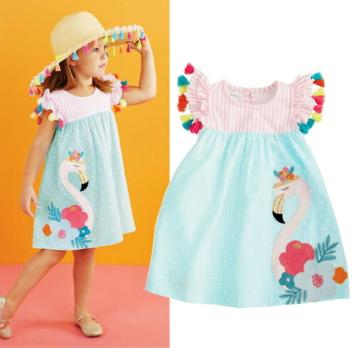 Flamingo Dress - Ribbon and Blues