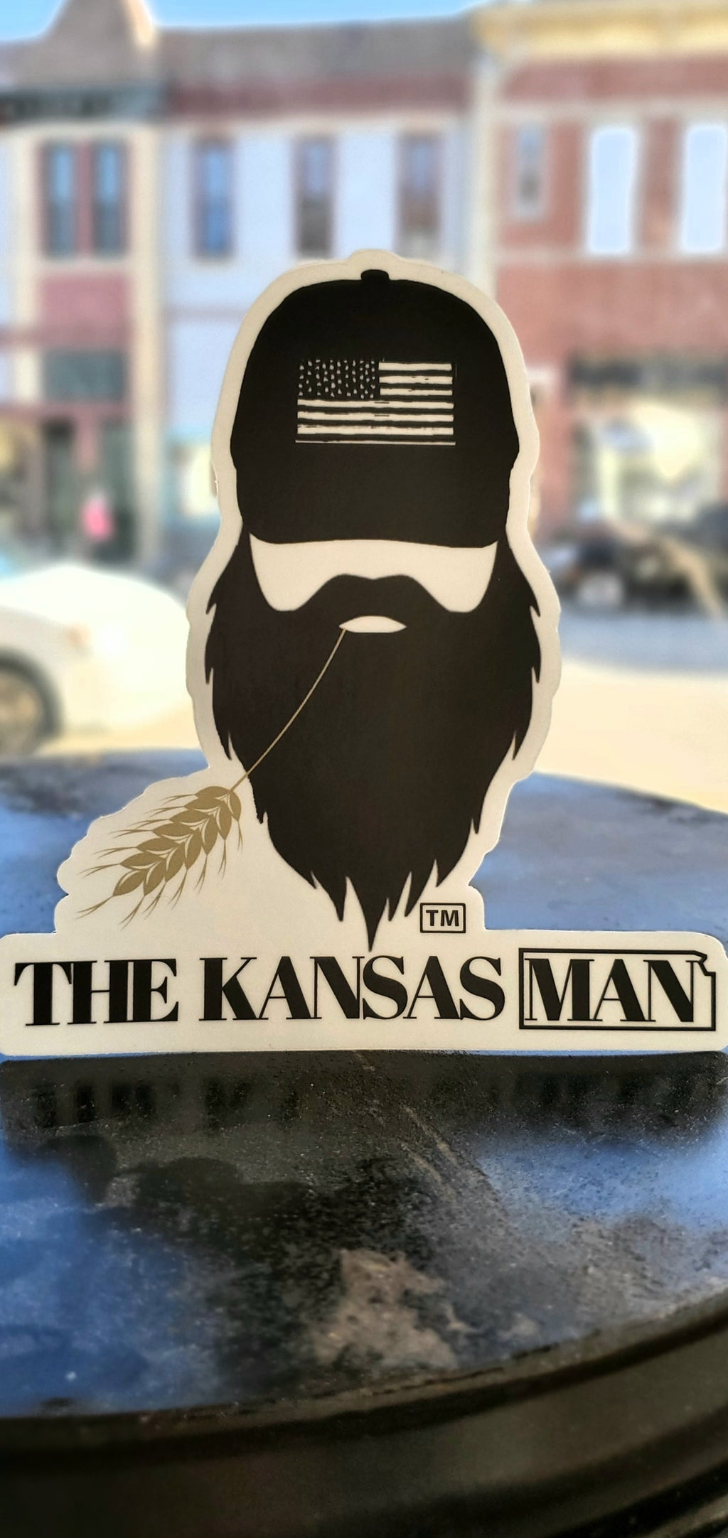 The Kansas Man Sticker