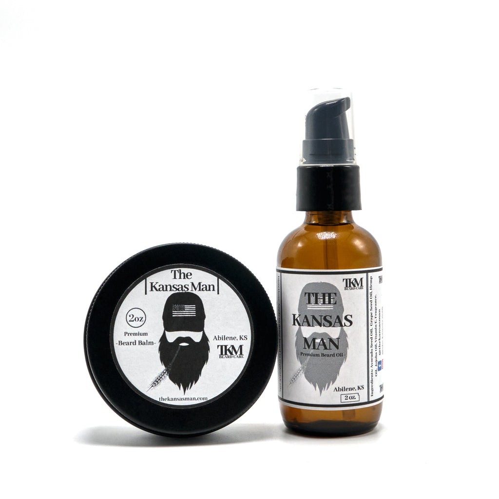 The Kansas Man Beard Oil & Balm Bundle