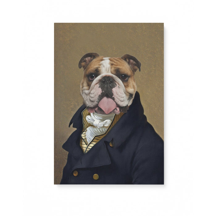 Custom Pet Portrait, The Captain Canvas Prints