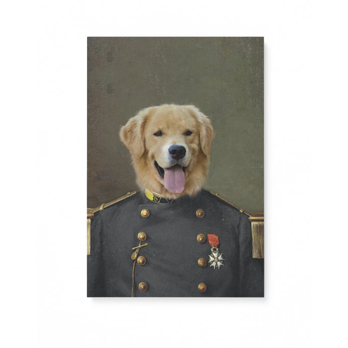 Custom Pet Portrait - The Old Guard - Matte Canvas