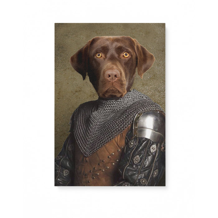 Custom Pet Portrait, The Knight 2 Canvas Prints