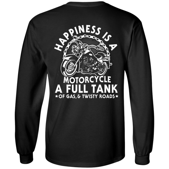Happiness is a motorcycle a full tank Motorcycle Shirt