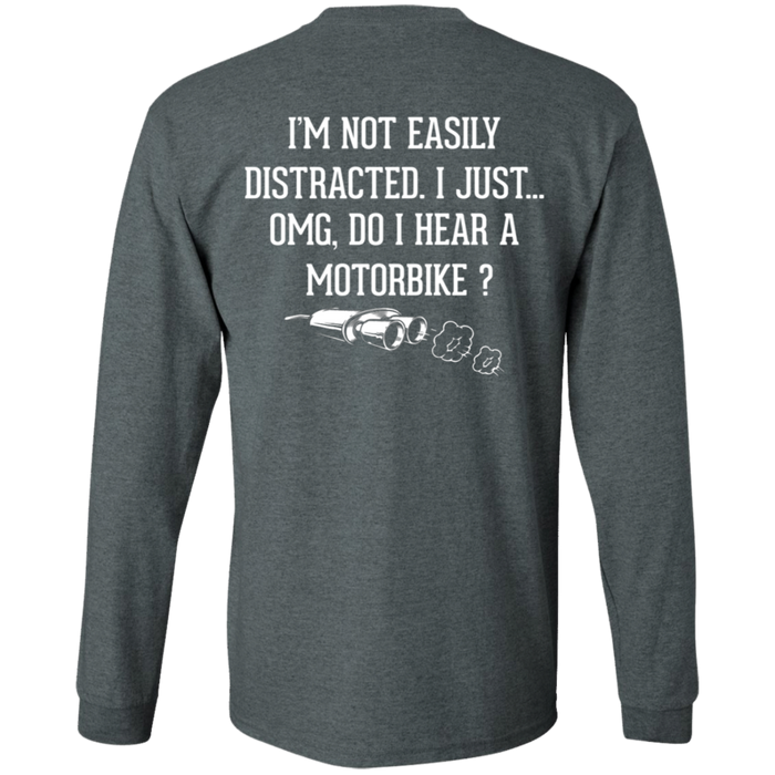 Not Easily Distracted Biker Motorcycle Shirt