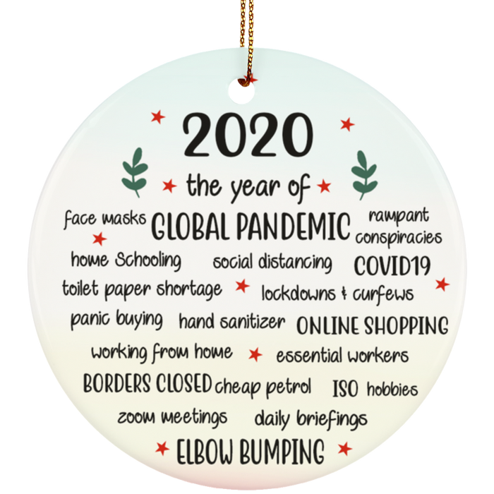 2020 Lockdown Funny Christmas Tree Ornament