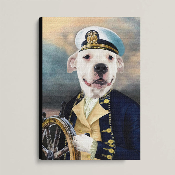 Custom Pet Portrait, The Sailor Canvas Prints