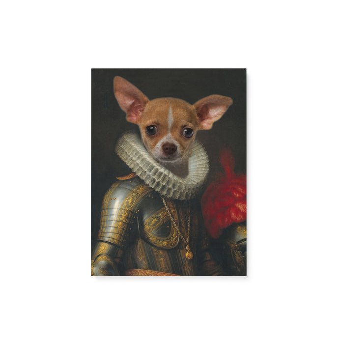 Custom Pet Portrait - The Knight - Matte Canvas