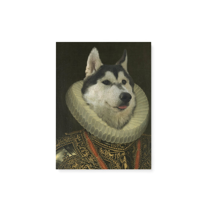Custom Pet Portrait - The King 2 - Matte Canvas