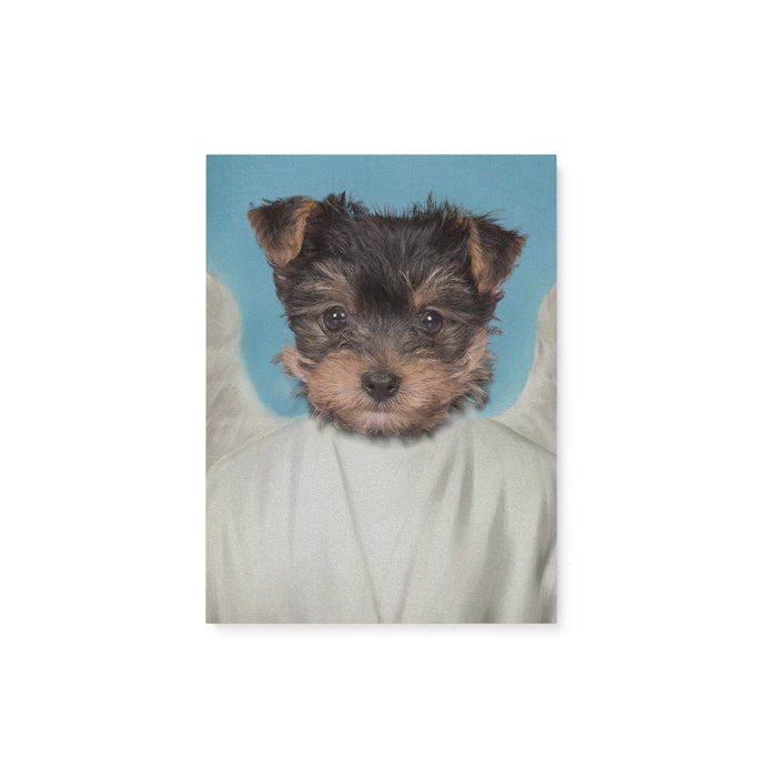 Custom Pet Portrait, The Angel Canvas Prints