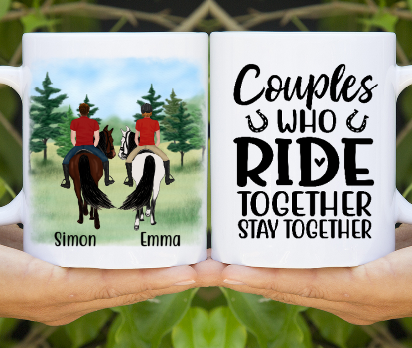 Personalized Mug, Horse Riding Couple Gifts For Horse Lovers