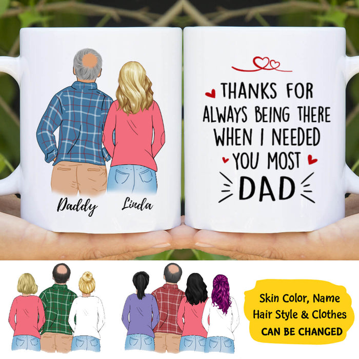 Custom Father and Daughters Personalized Mug Father's Day gift