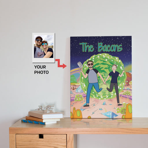 Personalized Cartoon Portrait, Custom Canvas Prints