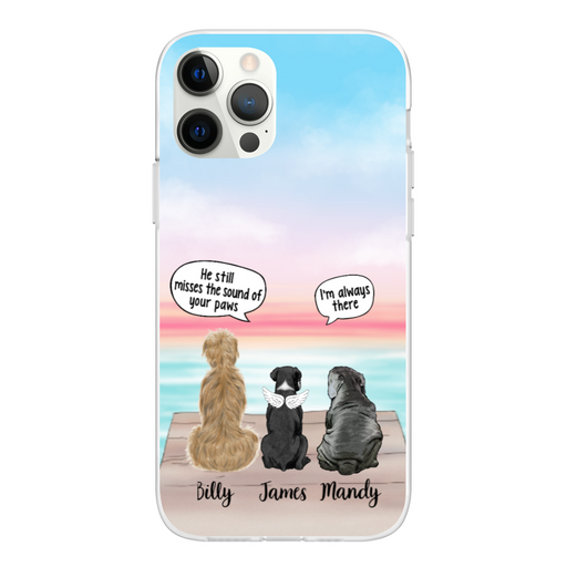 Personalized Phone Case - Memorial Dogs With Conversation Custom Gift for Dog Lovers