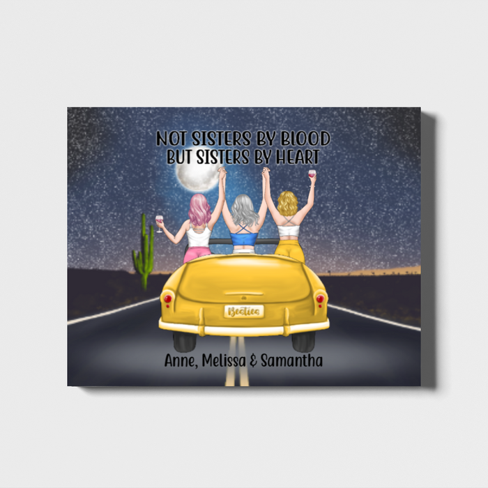 Personalized Canvas, Sisters In Car Custom Gift For Sister Besties