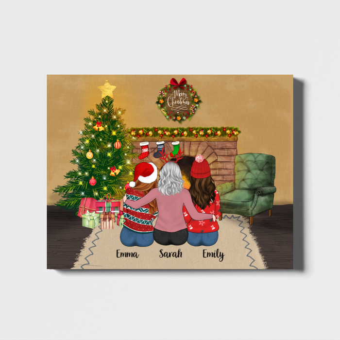 Personalized Landscape Canvas - Christmas Girls Custom Gift For Sisters Best Friends