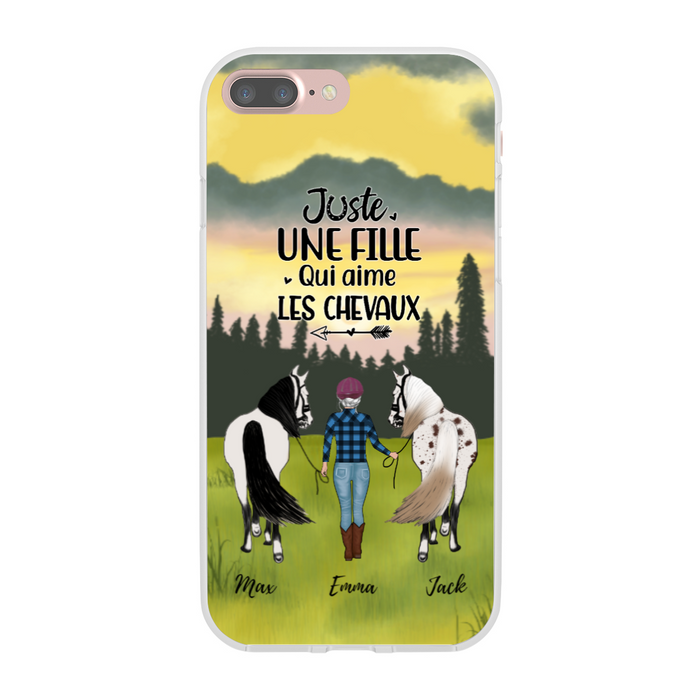 Personalized Phone Case - Girl Leading Horse Custom Gift For Horses Lover