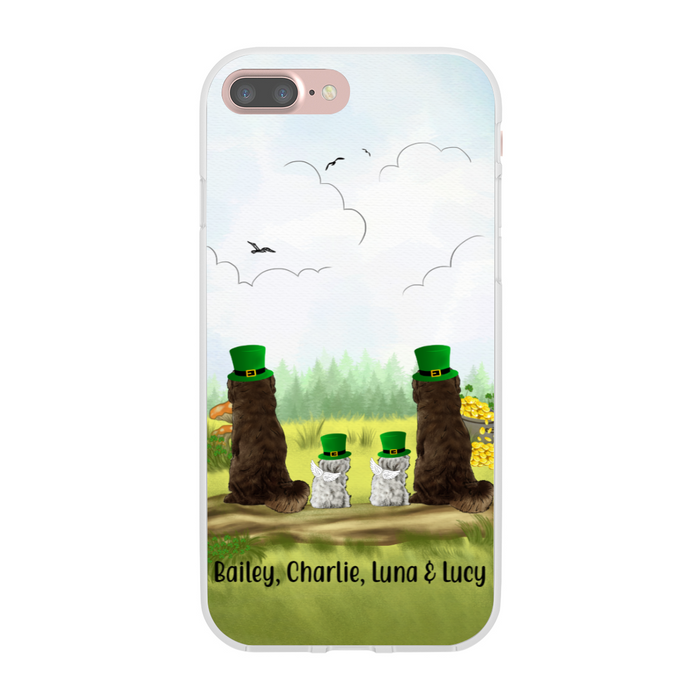 Personalized Phone Case - Up to Four Dogs Happy St Patrick's Day For Dog Lovers