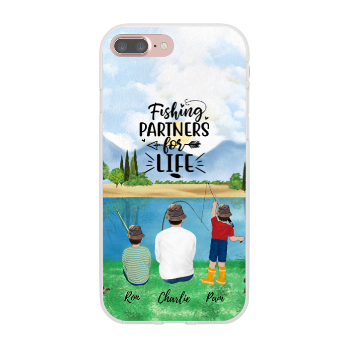Custom Fishing Partners for Family Phone Case Personalized Gift for Fishing Lovers