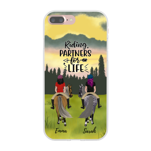 Custom Horse Riding Phone Case Personalized Gift For Couple Best Friends