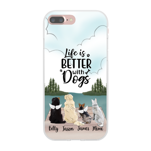 Personalized Phone Case, Up To Four Dogs Custom Gift for Dog Lovers