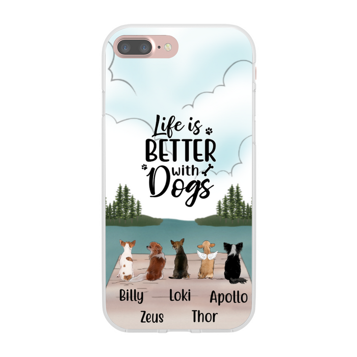 Personalized Phone Case, Chihuahua Dogs Custom Gift for Chihuahua Lovers