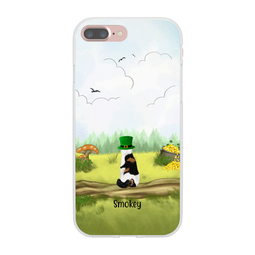 Personalized Phone Case - Up to Five Cats Happy St Patrick's Day For Cat Lovers
