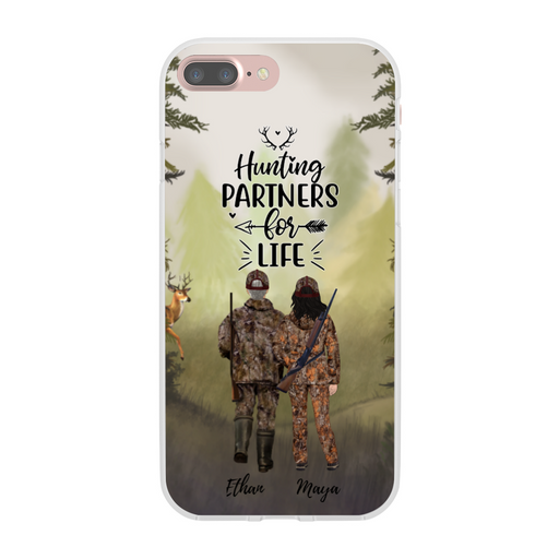 Custom Hunting Couple Phone Case Personalized Gift for Hunting Lovers