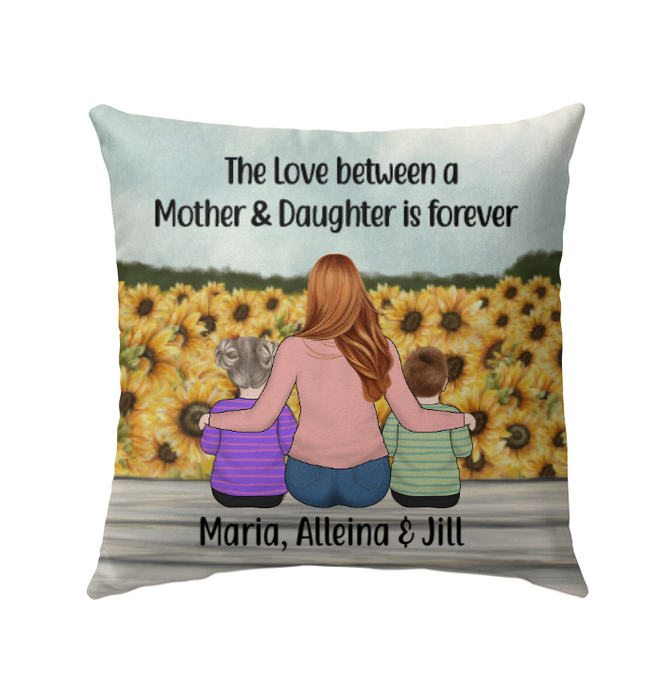 Personalized Pillow, Mother and Kids Custom Gift For Mother's Day