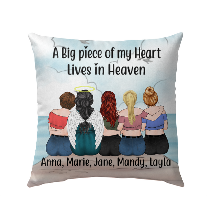 Personalized Pillow, Memorial Mother and Daughters Custom Gift For Mother's Day