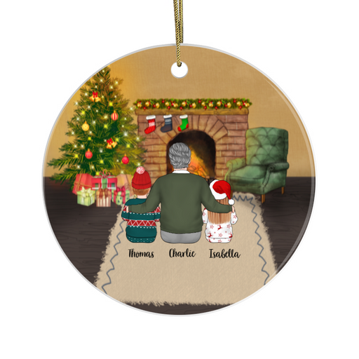 Personalized Ornament - Grandfather And Kids Custom Gift For Christmas