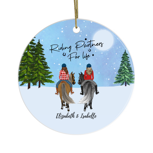 Personalized Ornament - Horse Riding Partners Custom Gift  For Christmas